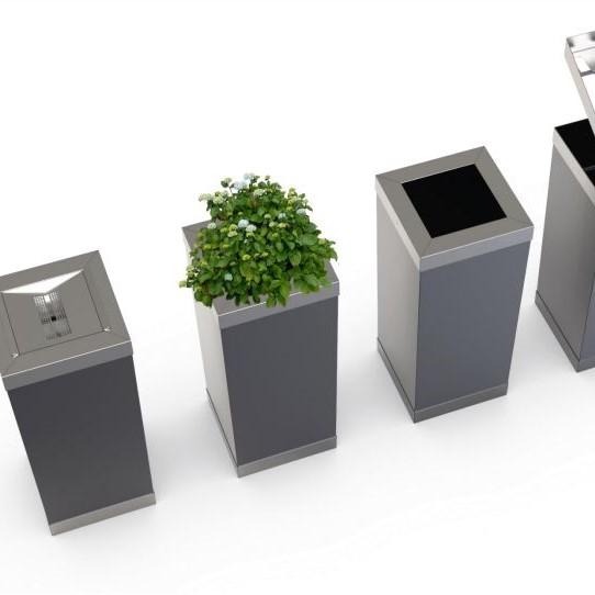 Riuni (porte-parapluie, corbeille, poubelle, cendrier d'extérieur, pot de fleurs)